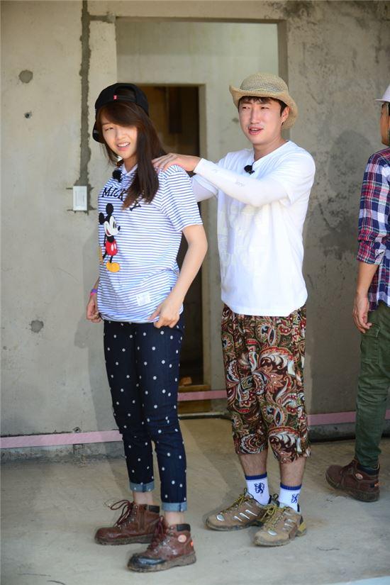 민아와 장동민(오른쪽) /SBS 제공