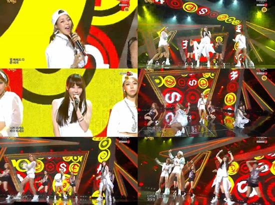 MBC '음악중심' 방송 캡쳐