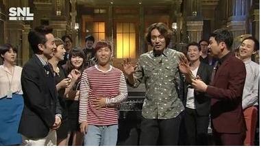 김민준이 '손가락욕' 사건에 대해 뉘우치는 자세를 보였다.[사진=tvN 'SNL 코리아' 방송 캡처]