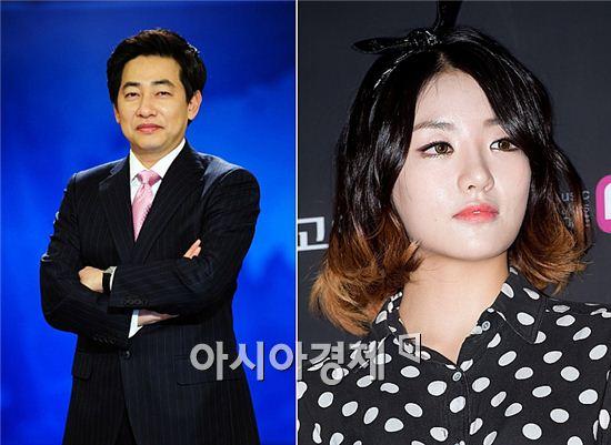 김성준 앵커(왼쪽)와 故 고은비 [사진=SBS, 폴라리스엔터테인먼트 제공]