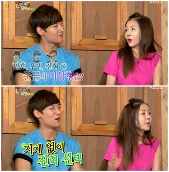 최진혁과 박준금 / 사진은 KBS2 방송 캡처