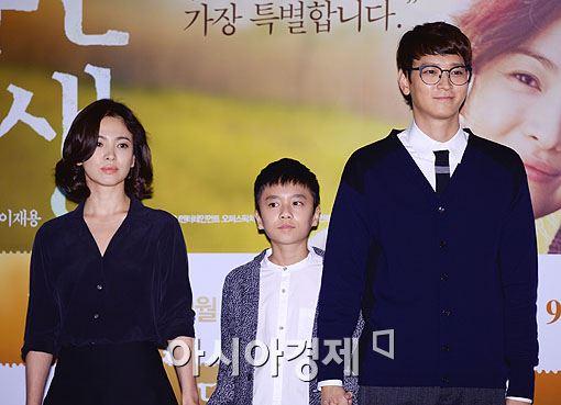 (왼쪽부터)송혜교, 조성목, 강동원
