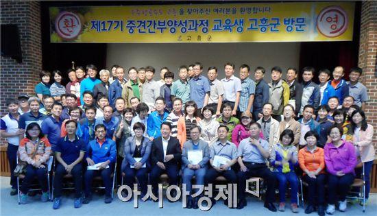 고흥문화회관 송순섭실에서 전남도 중견간부양성과정 교육생 70여명이 참석한 가운데 환영식을 가졌다.