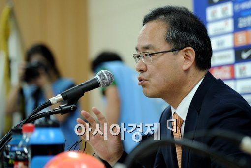 이용수 대한축구협회 기술위원장[사진=김현민 기자]