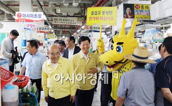 철룡이가 추석 명절을 앞두고 전남드래곤즈를 사랑해주시는 팬들을 직접 찾아 나섰다.