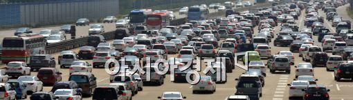 [포토]'고속도로가 주차장'