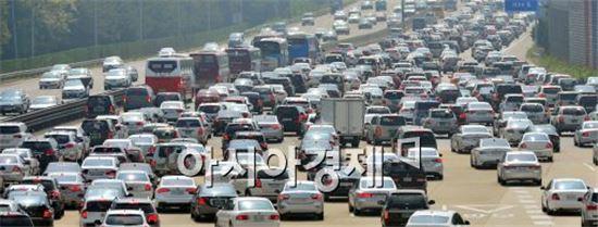 [포토]꽉 막힌 고속도로