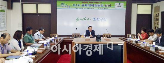 곡성군은 지난 9월 4일 군청 소통마루에서 이광수 부군수 주재로 규제개혁 위원회 회의를 개최했다.