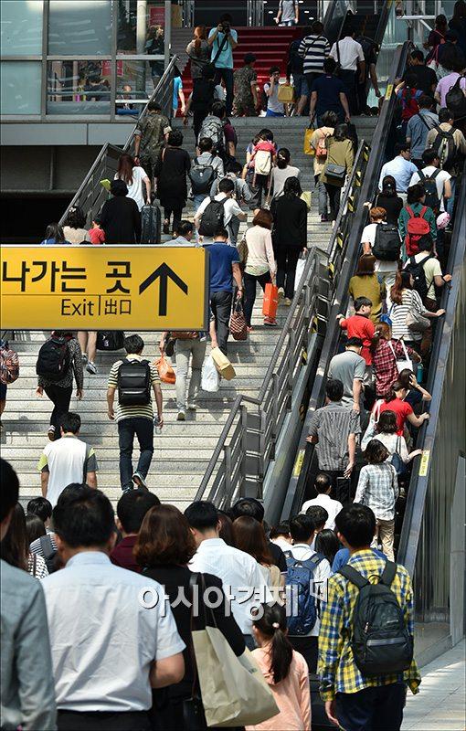 [포토]귀경객 몰린 서울역
