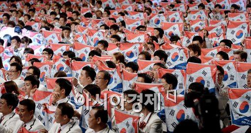 인천 아시안게임 결단식[사진=김현민 기자]