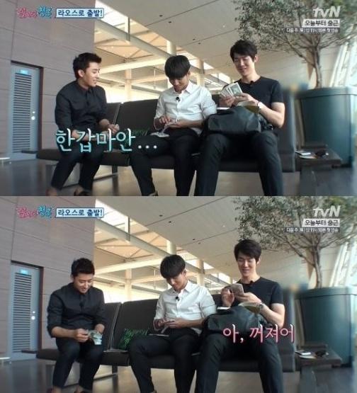 유연석과 손호준[사진=tvN '꽃보다 청춘' 방송 캡처]