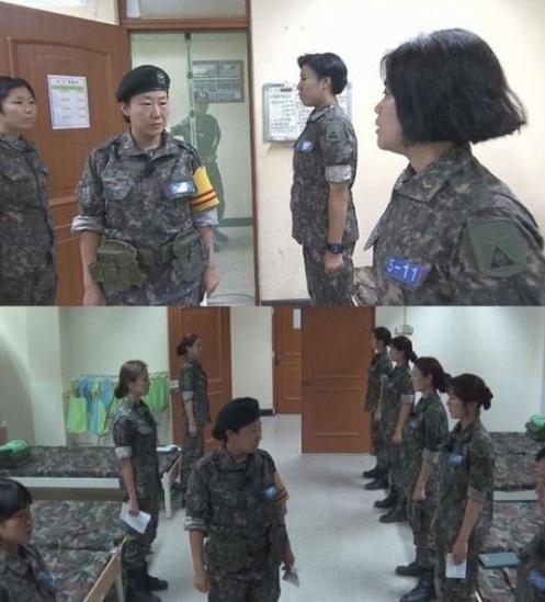 '진짜 사나이' 여군특집에 출연중인 라미란이 당직사관으로 깜짝 변신했다.[사진=MBC 제공]