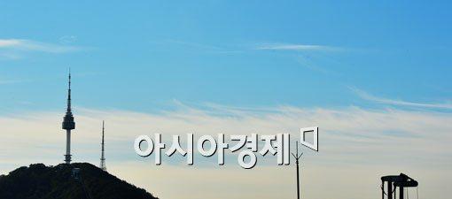 [포토]파란 하늘에 하얀 파도 구름