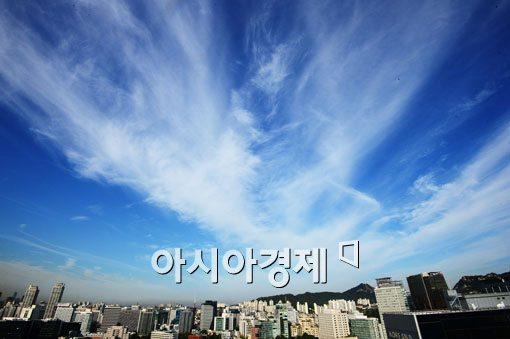 [포토]구름 파도 밀려오는 가을 하늘