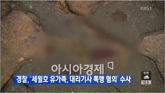 세월호 유가족 국회의원 대리기사 폭행사건 연루 [사진=KBS 캡처]