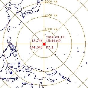 괌 규모 7.1 강진 발생 [사진=기상청]