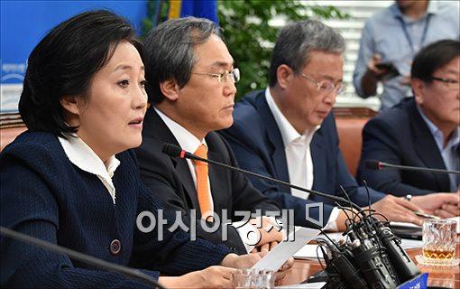 [포토]기자간담회 갖는 박영선 위원장