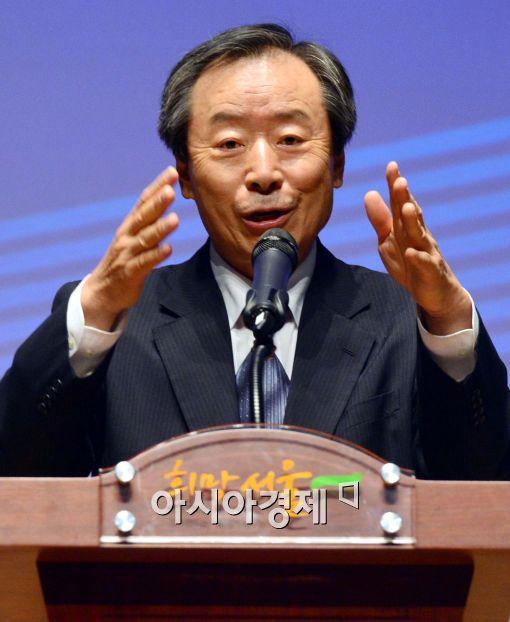 [포토]인사말 전하는 양승택 한국산업융합학회 회장