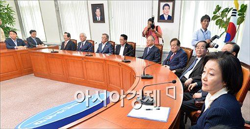 [포토]비대위워장 선출을 위한 회의 참석한 박영선