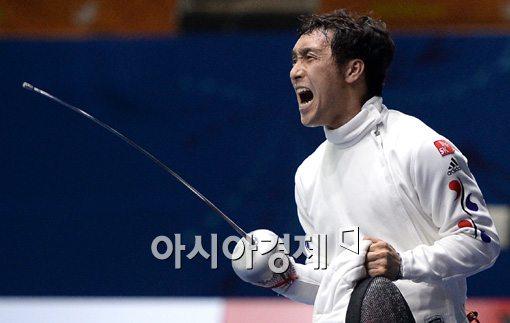 펜싱 남자 에페 국가대표 박경두[사진=김현민 기자]