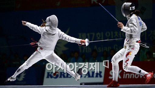 [포토]김지연,'비행기처럼 날아서'