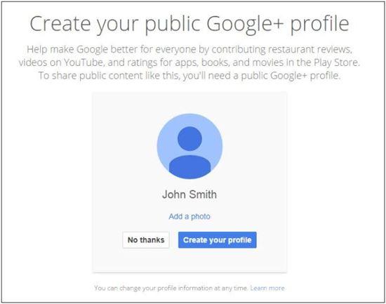 구글 지메일 신규 프로필 생성 화면 (출처 :월드스트림)