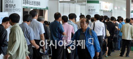 [포토]취업박람회 찾은 중장년 구직자들