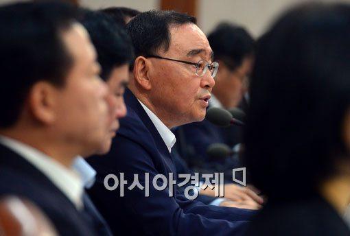 """[포토]정홍원 총리, """"쌀 관세화 관련 후속조치 철저"""""""