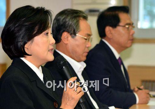 [포토]모두발언하는 새정치민주연합 박영선 원내대표