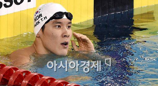 [포토]400m 동메달 확정지은 박태환