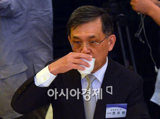 [포토]핫라인 기업 간담회 참석한 권오현 삼성전자 부회장