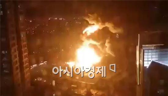 한국타이어 대전공장 화재 모습[사진=페이스북]
