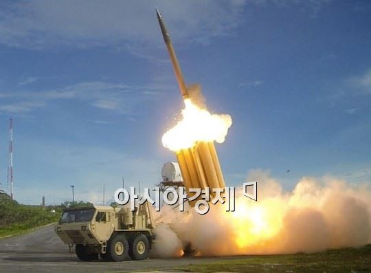 사드 미사일 고고도미사일방어체계 사드(THAAD) 미사일 발사 장면  (사진제공=록히드마틴 제공)