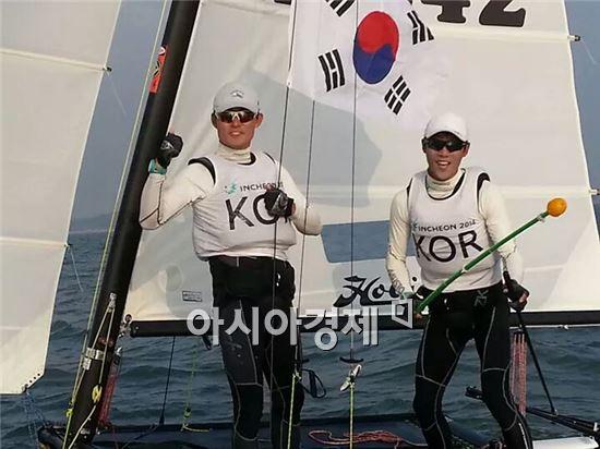 부안군청 김근수·송민재, 인천아시아경기대회 '금메달'
