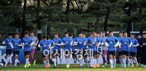 [포토]러닝하는 축구 국가대표팀