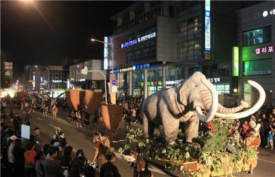 선사문화축제 거리퍼레이드