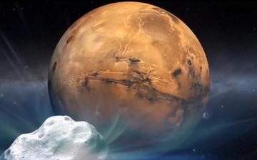 ▲혜성이 19일 화성에 아주 가깝게 접근한다.[사진제공=NASA]