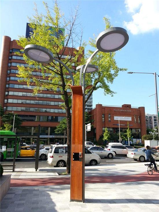 태양광 휴대폰 충전소