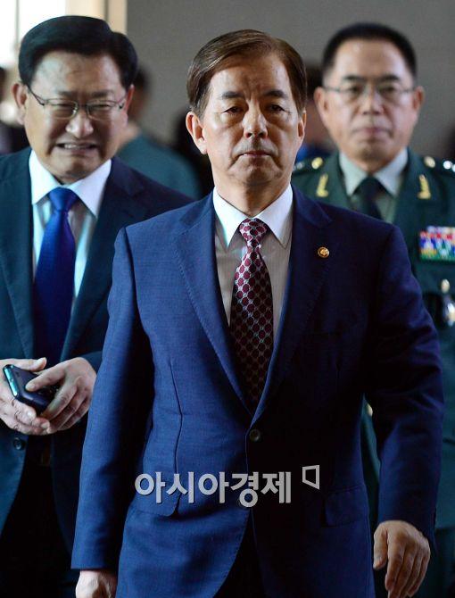 [포토]국정감사에 참석하는 한민구 장관