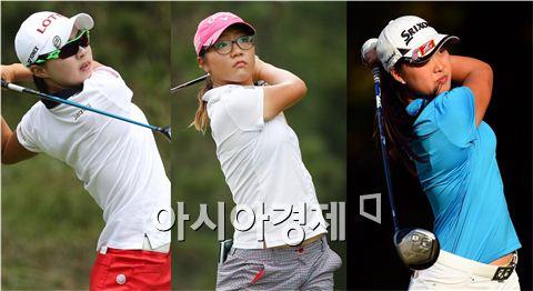 김효주와 리디아 고, 이민지(왼쪽부터). 사진=KLPGA, Getty images/멀티비츠