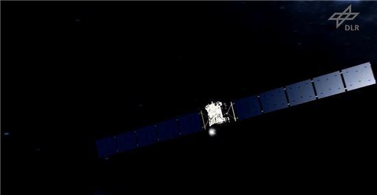 ▲로제타가 혜성으로 다가서고 있다.[사진제공=NASA/ESA]