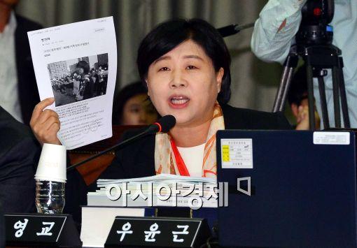 [포토]자료 선보이며 질의하는 서영교 의원