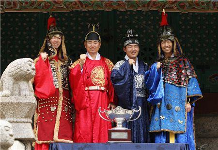 노승열과 양용은, 강성훈, 케빈 나(왼쪽부터). 사진=대회본부 제공
