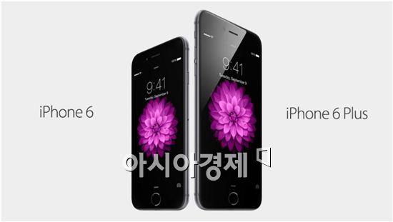 아이폰6(왼쪽)와 아이폰6플러스 [사진=애플 제공]