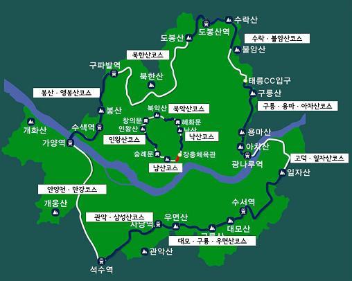 서울둘레길 전체 코스