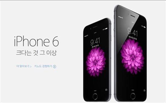 아이폰6 대란 / 애플 홈페이지