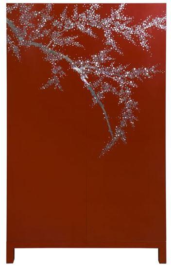 김상수 作, 옻칠 나전 매화무늬 장