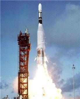▲마리너4 탐사선이 1964년 발사되고 있다.[사진제공=NASA]