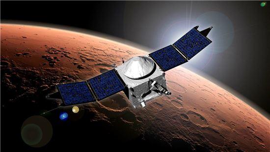 ▲나사는 최근 화성에 도착한 메이븐에 기대를 걸고 있다.[사진제공=NASA]