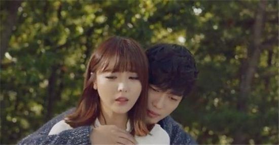 홍진영 남궁민[사진=홍진영 뮤직비디오 캡처]